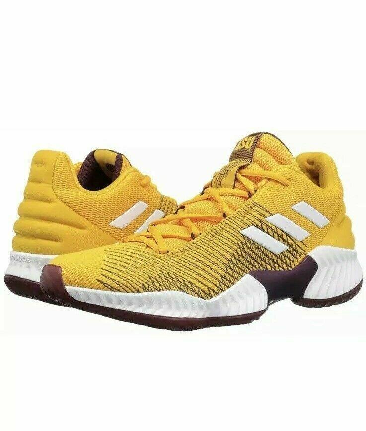 adidas Mens Pro Bounce 2018 Low ASU Basketball Shoe NCAA B41866 Size 9