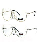 Womens Oversize Granny Upside Down Half Rim Clear Lens Eye Glasses - $12.95