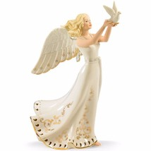 Lenox Jewels Of Light Angel Figurine Musical Dove Pierced Emporer's Walt... - $149.00
