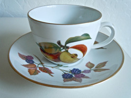 Royal Worcester Evesham Gold Cup and Saucer Set Gold on Sides of Handle - $11.08