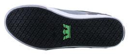 Supra Homme Vaider Bas Décoloré Gris/Blanc Nylon Skateboard Shoes Basket S36042 image 8