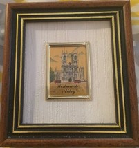 WESTMINSTER ABBEY SMALL GOLD LEAF PICTURESQUE I... - $9.49