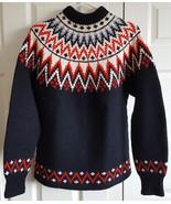 Sweater Wool Vintage Lulle Otterstad Handmade In Oslo Norway Mens Winter... - $54.99