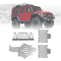 4PCS 1/10 Stainless Steel Protector Skid Plate Upgrade Modify Parts for Traxxas  - $24.99