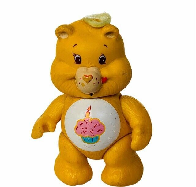Care Bears 1984 toy action figure AGC vtg doll collectible birthday cupcake gold - $22.15