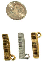 HAIR COMB PEWTER CHARM 22x9x2mm image 2