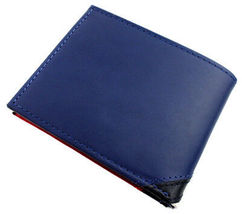 Tommy Hilfiger Men's Leather Wallet Passcase Billfold Red Navy 31TL22X051 image 4