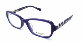 New Authentic Coach Rx Eyeglasses Frames HC 6075QF 5358 52x18 Navy with Case - $58.80