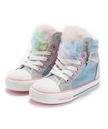Weestep Toddler Little Kid Girls Glitter Bow Sneakers - 14 (10 Toddler Blue) - $30.01