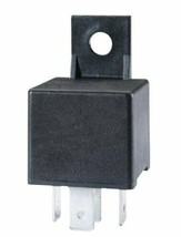 HELLA 965400031 Black 24V 30 Amp Mini ISO SPST Relay with Bracket - $14.21