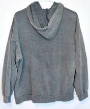 Boohoo Women's NYC Slogan Washed Gray Oversized Hooded Sweatshirt Size US 6 NWT image 2
