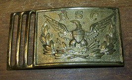 Vintage Us Army Hsc Rotc Uniform Eagle Belt Buckle - $15.83