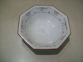 "Vintage Johnson Brothers Made in England Bowl 7 1/4"" Burgundy Pink Floral   - $17.82"