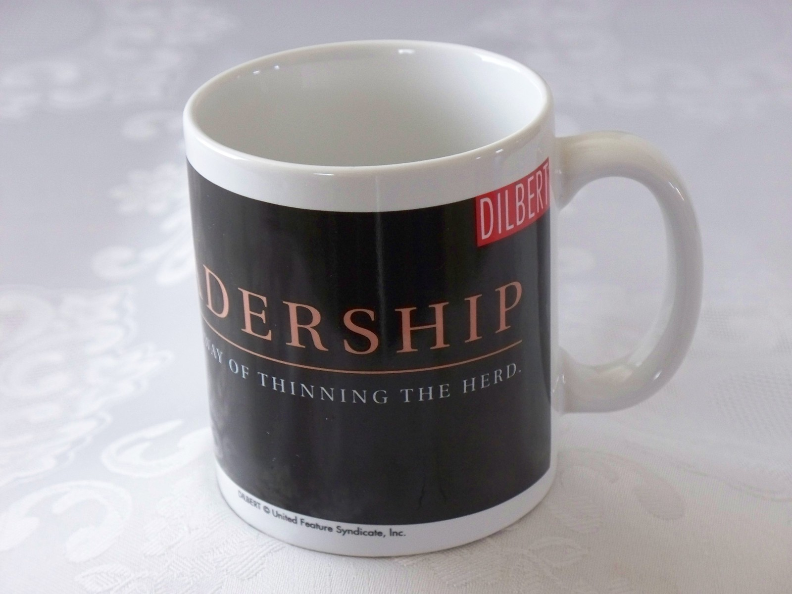 Dilbert Leadership Thinning Of The Herd 12 Oz Coffee Mug