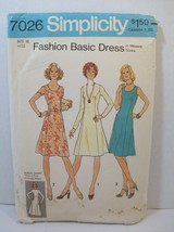 Simplicity Pattern 7026 Miss Size 16 Princess Dress Neck Sleeve Var Vtg ... - $8.90