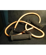 2 RESISTANCE BANDS FOR 6 SECOND ABS YELLOW+ORANGE AND AN ELASTIC FITNESS... - $23.69