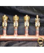 """1"""" Copper Manifold 1/2"""" Compresson Pex-AL-Pex (With & W/O Ball Valves) 2... - $35.15+"""