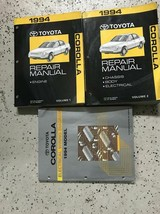 1994 TOYOTA COROLLA Service Repair Shop Workshop Manual Set OEM W EWD - $79.15