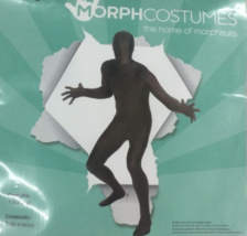 Men's Black Morphsuit Costume Body Skin Suit Zentai Large L 36-38 - $37.29