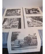 Lot of 5 Vintage Rutkowski Prints Pennsylvania Penn State Unframed - $143.57