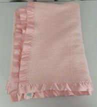 RN 14500 Thick Pale Pink Baby Girl Blanket Fleece Satin Trim Edge Band C... - $69.29