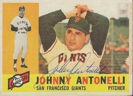 Johnny Antonelli 1960 Topps Autograph #80 Giants - $29.80