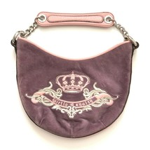 Juicy Couture Handbag Purse Bag Pink Lavender Fabric Leather Small Short... - $49.99