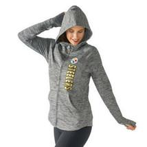 XS Women's Pittsburgh Steelers NFL Recovery Full Zip Hoodie Hooded Sweatshirt