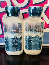 2 New Bath & Body Works Sparkling Nights Shea Super Smooth Body Lotion 8 oz - $18.71