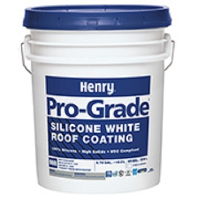 SILICONE Roof Coating 36 - 5 gal pail Henry 988 PRO-GRADE VARIOUS COLORS