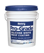 SILICONE Roof Coating 36 - 5 gal pail Henry 988 PRO-GRADE VARIOUS COLORS - $9,108.00
