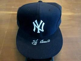YOGI BERRA NEW YORK YANKEES HOF SIGNED AUTO 5950 NEW ERA FIELD CAP HAT JSA  - $296.99