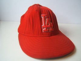 Los Angeles Dodgers LA Hat Red 6 7/8 54.9cm Fitted New Era MLB Baseball Cap - $15.12