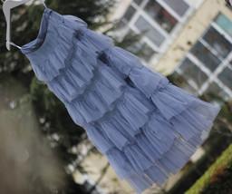 Women Black Tiered Tulle Skirt Full Long Black Tulle Layered Skirt Plus Size image 14