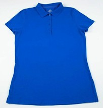 ST JOHNS BAY WOMENS SIZE SMALL SHORT SLEEVE BLUE POLO TOP SHIRT NEW - $11.87