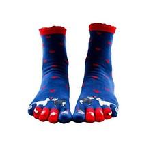 George Jimmy Cute Cartoon Tube Toe Scoks Blue Soft Cotton Socks - £11.74 GBP