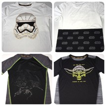 Youth Star Wars T-Shirt Lot of 3 Size 6 Storm Trooper Darth Yoda Perform... - $11.32