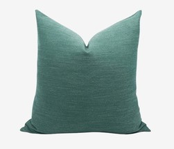 Linen Throw Pillow Cover, 20x20'' Emerald Hunter Green / Forest Green  - $15.49