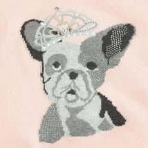 Mayoral Tween Girls Angora Blend Crown Bull Dog Intarsia Knit Sweater image 3