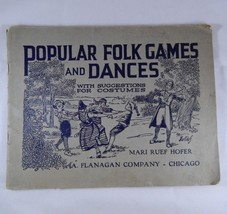 Early Music Book FOLK GAMES & DANCES plus suggestions for costumes 1921 ... - $14.01