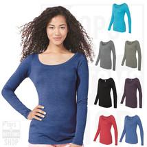 Next Level Women Triblend Long Sleeve Scoop Neckv Rib Knit T-Shirt S-2XL... - $7.78+