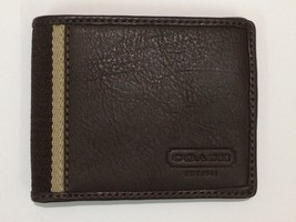 COACH HERITAGE WEB LEATHER BIFOLD SMALL WALLET ... - $35.00