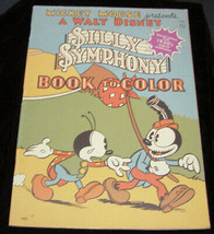 Walt Disney Silly Symphony mickey mouse book to color - $16.99