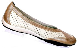 Privo by Clarks Women's Beige Leather Ballet Loafers Slip On Shoes Size ... - $39.59