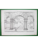 ARCHITECTURE PRINT : Italy Crypt in St. Martino al Monti at Rome - $18.90