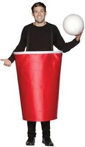Red Solo Cup Beer Pong Costume Adult Men Women Halloween Party Unique GC... - €48,57 EUR