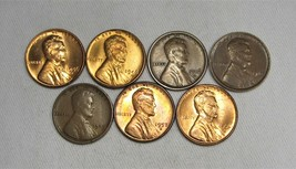 Lot of 7 Lincoln Wheat Cent Uncirculated Coins AG155UL - $48.31