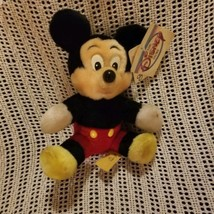 Mickey Mouse Disney Store Vintage Plush with Tag Disney World Small - $15.83