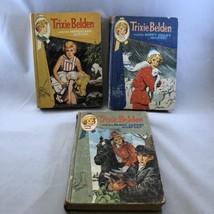 Trixie Belden 3 Mystery Books Kathryn Kenny Marshland Happy Valley Black... - $10.69