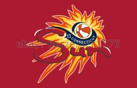 Connecticut Sun WNBA 3'x5' red Flag Alex Bentley Chiney Ogwumike USA seller - $25.00